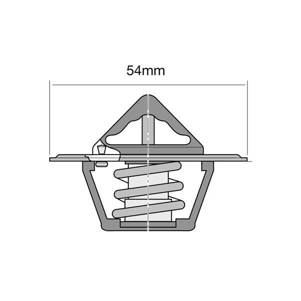 Tridon Thermostat Opening Temp:  82°C Flange Dia:  54mm - TT2000-180