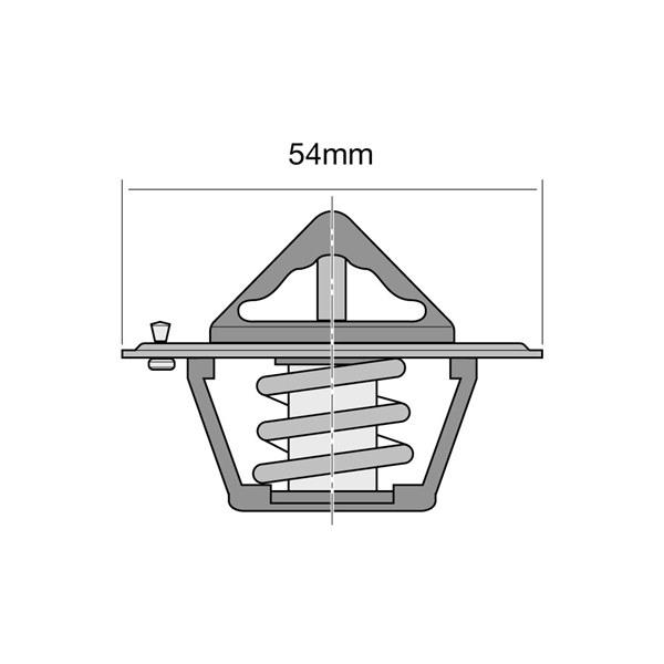 Tridon Thermostat Opening Temp:  88°C Flange Dia:  54mm Foot Dia:  - - TT1-190
